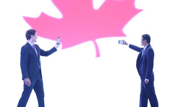 加拿大总理到访阿里巴巴总部 与马云见证加航签约阿里旅行