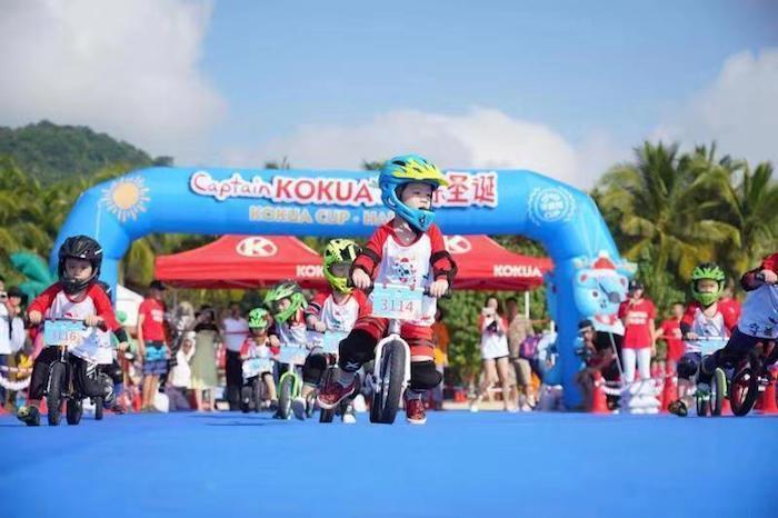 第18届可酷娃杯沙滩儿童平衡车大赛在海南石梅湾艾美酒店举行